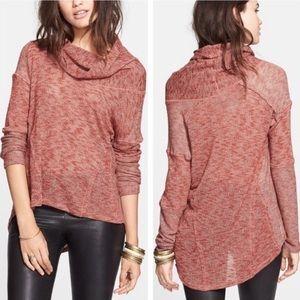 Free People Beatnick Hacci Cowl-neck Sweater M